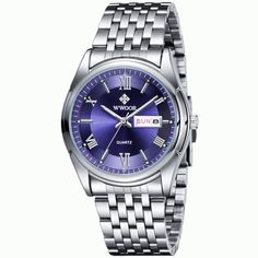 Luxury Watch Auto Date Men Stainless Steel Sport Watches Luminous Hours Clock Casual Quartz Dress Watch Wristwatch