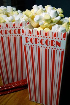 Movie popcorn cupcakes.