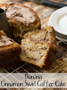 Banana Cinnamon Swirl Coffee Cake - yummy way to use up overripe bananas!