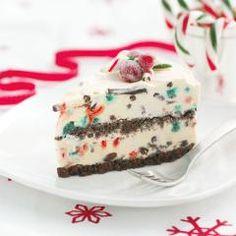 Candy Cane & Chocolate Ice Cream Cake