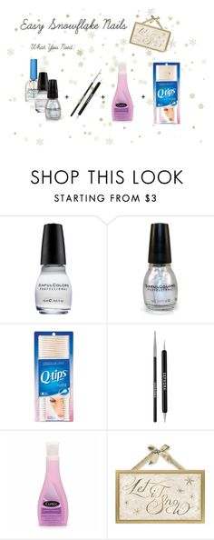 """""""Easy Snowflake Nails"""" by fab-sab ❤ liked on Polyvore featuring beauty, Sally Hansen and Sephora Collection"""