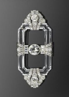 Pair of Platinum and Old Mine Diamond Tulip Brooches by Rene Boivin, circa 1930s