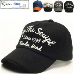 New Warm Winter Wool Baseball Cap Black Casual Fashion Hat Adjustable | eBay