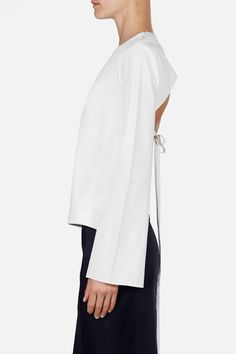 Protagonist — Shirt 12 Open Back Blouse White — THE LINE