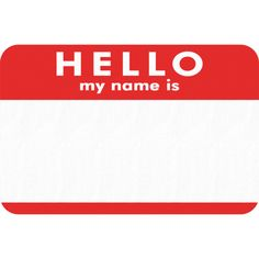 Hello my name is ❤ liked on Polyvore