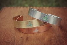 "Hand Crafted Hammered Bird Design Hand Painted 1/2"" Cuff Bracelet, Layering Bracelet, Stacking Bangle, Stackable Cuff, Summer Jewelry by HoneyThorns on Etsy https://www.etsy.com/listing/399203507/hand-crafted-hammered-bird-design-hand"