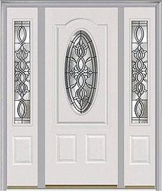 Door with two sidelites. Milliken Millwork. Castile - 949CAS  sc 1 st  Pinterest & Entry door. Door with two sidelites. Milliken Millwork. Castile ...