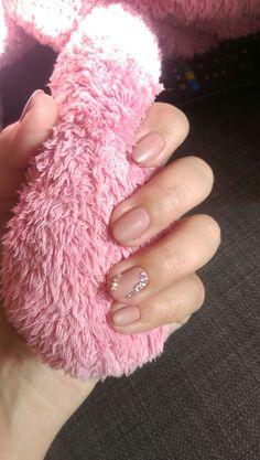 #nails #mate стразы, ногти,  матовый нюд