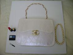 Bolo Bolsa Chanel frente - Purse Cake Chanel by Alexandra Bolos Artísticos, via Flickr