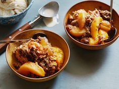 Slow Cooker Peach Cobbler Recipe : Alton Brown : Food Network - FoodNetwork.com
