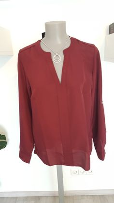 Bluse in Bordeaux Rot