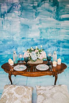 watercolor wedding reception - photo by Julia Park Photography http://ruffledblog.com/dreamy-watercolor-wedding-editorial