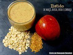 Ponto de Rebuçado Receitas: Batido de maçã, aveia, chia e linhaça para o pequeno almoço!