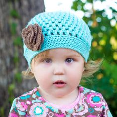 Everley puff stitch beanie Crochet baby hat by SillySeaTurtle, $23.00