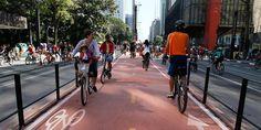 Inaugurada a ciclovia da Avenida Paulista