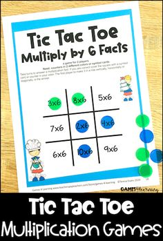 Tic Tac Toe Math Games - Combine multiplication fact practice with Tic Tac Toe and you have a real winner. Kids love to play and you will love how much their fact fluency improves. Multiplication Facts Practice, Math Facts, Fast Finishers, Addition Facts, Tic Tac Toe Game, Basic Math, Colour Board, Math Classroom, Math Centers