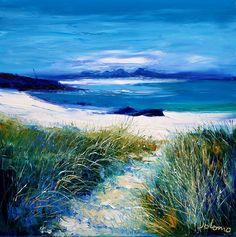 Scottish Contemporary Art Gallery stocking Jolomo - John Lowrie Morrison - paintings and prints. Landscape Pictures, Landscape Art, Beach Watercolor, Watercolour, Summer Art, Pictures To Paint, Concept Art, Contemporary Art, Art Photography