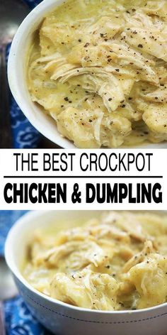 Crockpot chicken and dumplings it's easy to throw the ingredients in your slow cooker and when you return you will have a large bowl of comfort food for you. We enjoy a lot of dumplings and this particular recipe does not disappoint!