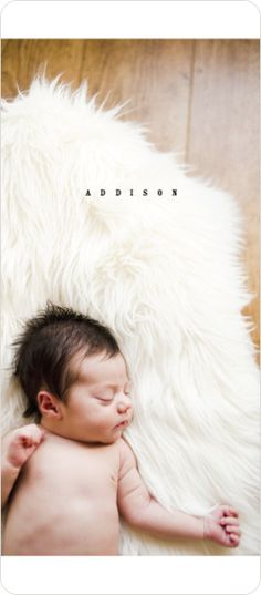 Simply Classic Photo Birth Announcements