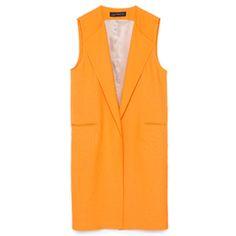 zara orange waistcoat