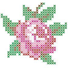 kruissteek patroon roos - Google zoekenuse quillingh strips in circles to make this