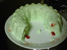 LIME JELLO SALAD - with pineapple, cottage cheese, cream cheese, whipping cream, walnuts, mini marshmallows