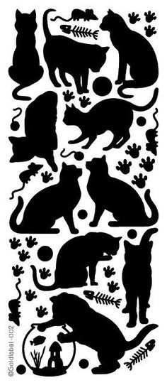 Cat silhouettes and like OMG! get some yourself some pawtastic adorable cat appa… Cat silhouettes and like OMG! get some yourself some pawtastic adorable cat apparel! Machine Silhouette Portrait, Cat Silhouette, Cat Quilt, Cat Cards, Cat Pattern, Applique Patterns, Cat Tattoo, Cat Design, Crazy Cats