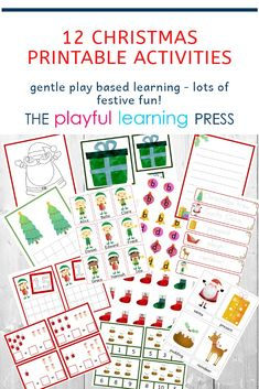 gentle play based learning activities by PlayfulLearningPress Early Learning Activities, Play Based Learning, Learning Through Play, Toddler Preschool, Toddler Activities, Christmas Printable Activities, Play To Learn, Marketing And Advertising, Toddlers
