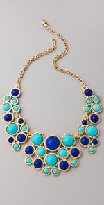 chunky necklace in beautiful blues