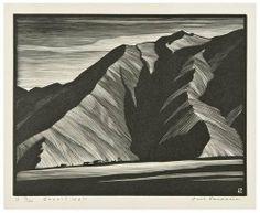 "Paul Landacre (American, 1893-1963).   ""Desert Wall"" from The California Hills, 1931"
