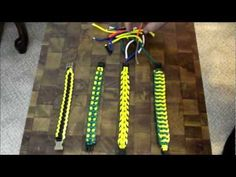 How to finish off a paracord bracelet, 3 techniques. - YouTube