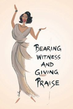 Bearing Witness and Giving Praise Magnet by Cidne Wallace