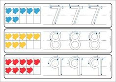 Math Centers - Winter (Beginning Skills) 127 pages. A page from the unit: Number writing practice