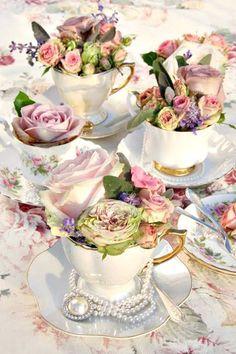 Tea Party Bridal Shower, Tea Party Wedding, Wedding Cakes, Spring Wedding, Wedding Favors, Afternoon Tea Parties, Afternoon Tea Wedding, Deco Floral, Deco Table