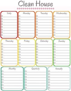 diy home sweet home: Home Management Binder - Cleaning Schedule