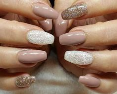 Nude and sparkly! Love it♡