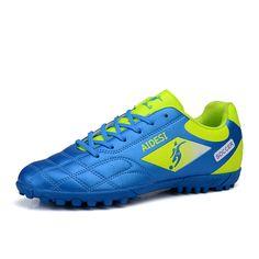 Turf Soccer Shoes For Men Boys Football Boots 2016 Black/Orange/Green Soccer Cleats Boots Original Football Boots Tf Men Sneaker