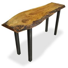 42 best salvaged and reclaimed live edge slab console tables images rh pinterest com