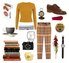 """""""retro reporter"""" by sangiamoe on Polyvore"""