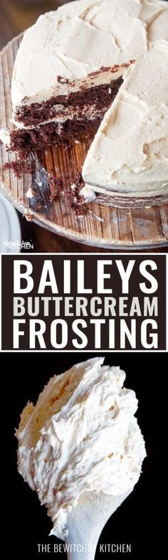 This Baileys Buttercream Frosting is the best frosting recipe ever! This creamy cake icing recipe has the decadent bite of irish cream. Best Frosting Recipe, Buttercream Recipe, Frosting Recipes, Cupcake Recipes, Baking Recipes, Dessert Recipes, Cupcakes, Cupcake Cakes, Just Desserts