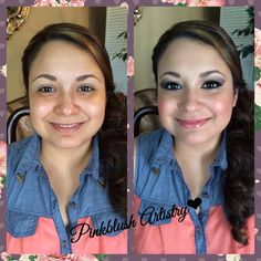 Bridal - Before and After Traditional Application Congratulations Felicia on your marriage!  I wish you all the best!  | Pinkblush Artistry - League City, TX