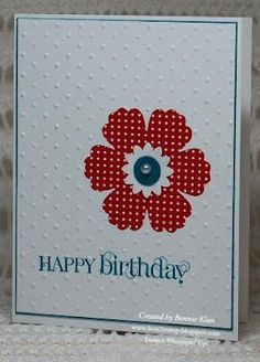 Stamping with Klass: Hurrah for the Red, White and Blue