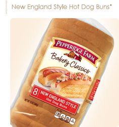 Lovely Pepperidge Farm®   New England Style Hot Dog Buns