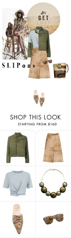 """""""Let's get lost"""" by lacas ❤ liked on Polyvore featuring Brother Vellies, GET LOST, Current/Elliott, Cerruti, T By Alexander Wang, Ayaka Nishi, slipons, babouche and BrotherVellies"""