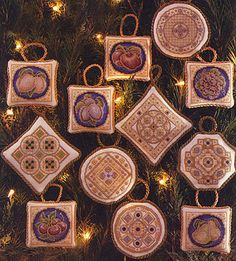 Teresa Wentzler's Christmas ornaments - will definitely be stitching these again this year!