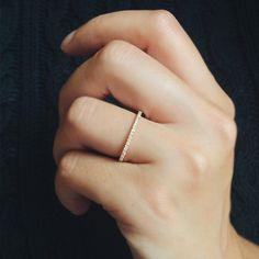 Union Bague Diamant en Or jaune 18k - 4