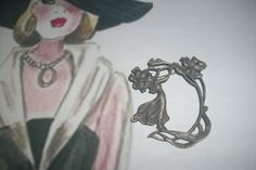 Gorgeous Art Nouveau Lady Brooch by MICSJWL on Etsy, $35.00
