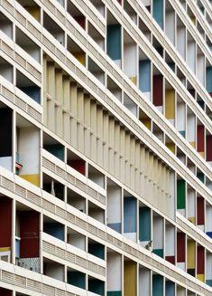Unité d'Habitation (Wohneinheit), Le Corbusier, 1956-1958.