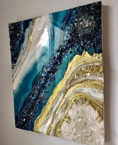 Geode painting made to order custom acrylic pour fluid art pour painting mixed media art contemporary art geode art abstract art wall art – Artofit Acrylic Pouring Art, Acrylic Art, Epoxy Resin Art, Diy Resin Art, Resin Wall Art, Art Diy, Ideias Diy, Inspiration Art, Resin Crafts