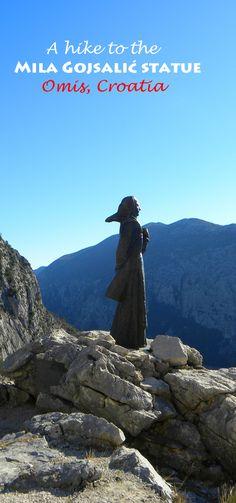 A little known but fabulous sight in Central Dalmatia, Croatia: http://bbqboy.net/hike-mila-gojsalic-statue-omis-croatia/   #omis #croatia